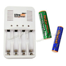 Lot Rechargeable 1.6V AA AAA 2A 3A NiZn + Quick Battery Charger UltraCell Plus