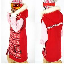 shootingstar long vest tall for ski snowboard sports - red