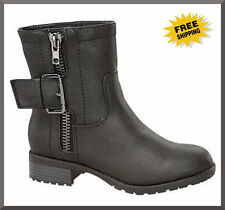 WOMENS NEW FASHION BLACK BOOTS LADIES ANKLE WINTER HIGH WORK HEELS SHOES AU SZ