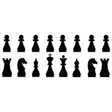 #349 CHESS PIECE ANY SIZE OR COLOR CUSTOM CUT VINYL DECAL STICKER