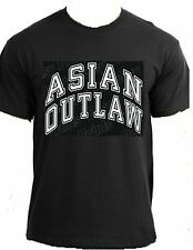 ASIAN OUTLAW america Chinese japan pride country fun apparel clothing t-shirt
