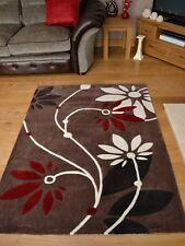 New Brown Cream Red 100% Chinese Hand Tufted Thick Soft Floor Carpets Rugs Rug