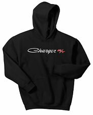 CHARGER R/T HOODIE SWEAT SHIRT DODGE MOPAR MUSCLE CAR BLACK JUMPER JACKET