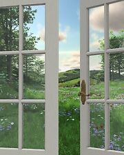 View of Rolling Hills & Meadow Printed Glass Splashback Kitchen Choose your size