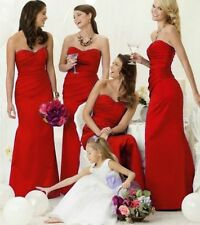 RED BRIDESMAID DRESS EVENING WEDDING PROM CADBURY PURPLE BLACK BLUE SILVER PINK
