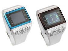 "Unlocked 1.3"" Touch Screen GSM QuadBand WristWatch CellPhone Q5 Bluetooth FM MP3"