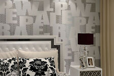 Modern Alphabet Non Woven Fabric Wallpaper 10M/Roll Feature Wall SYD in stock