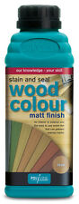 Polyvine Wood Color Stain and Seal Pint - White, Black, Blue, Green, Teak, Pine