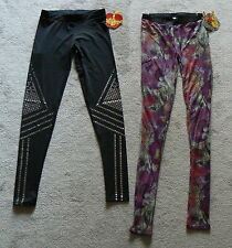 APPLE BOTTOMS Leggings  Rebellion Print or Black w/Silver  Jr Sizes  NWT