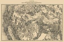 Old Mining Map - Western Mining District Colorado - 1870 - 34 x 23