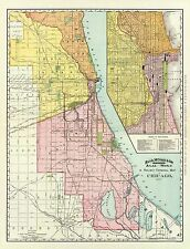 Historic Railroad - CHICAGO ILLINOIS RAILWAY TERMINAL MAP 1892