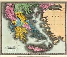 Old Greece Map - Colton 1856 - 27 x 23