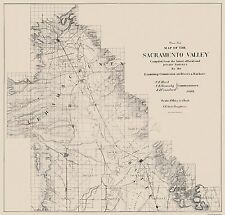 Old State Maps - SACRAMENTO VALLEY CALIFORNIA (CA) MAP BY BRITTON & REY. 1890