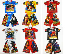 Iron Man 3 Boy Outfit Set T-Shirt+Shorts Size 4-8 age 3-8