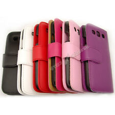 Lot of PU Leather Flip Wallet Card Case Cover Samsung Galaxy S3 SIII i9300