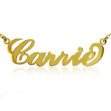 CARRIE Style Name Necklaces Personalized Name Plate Name Necklace Name Jewelry
