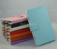 """Colorful Folio Leather Case+Stylus For 8"""" Aluratek CinePad AT208F/zte v80 Tablet"""