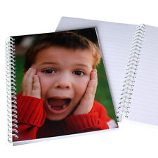 Personalised photo notebooks create your own notebook note pad ruled plain A5 A6