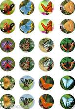 24x PRECUT BUTTERFLIES/BUTTERFLY WEDDING RICE/WAFER PAPER CUP CAKE TOPPERS