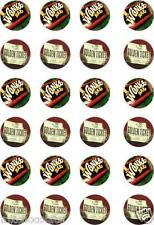 24x PRECUT WILLY WONKA CHOCOLATE BARS/GOLDEN TICKET RICE PAPER CUP CAKE TOPPERS