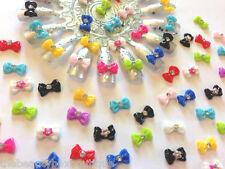 ACRYLIC BOWS - RHINESTONE JEM 3D ACCESSORIES NAIL ART CRAFT DECORATION BLING