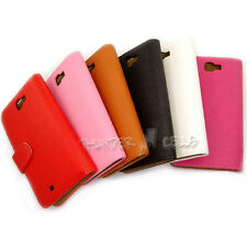 Lot PU Leather Wallet Flip case cover For Samsung Galaxy Note II 2 N7105 N7100