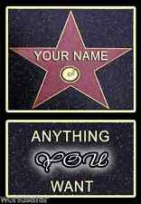 HOLLYWOOD STAR - PERSONALISED GIFT SET FOR FATHERS DAY - BEST DAD DADDY AWARD