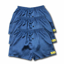 3 PACK OF SATIN BOXER SHORTS NAVY BLACK GREY ALL SIZES AVAILABLE S M L XL XXL L