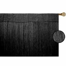 BLACK STRING STRAND CURTAIN 2 SIZES GREAT QUALITY - FLY SCREEN