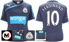 *13 / 14 - PUMA ; NEWCASTLE UTD AWAY SHIRT SS / FERDINAND 10 = KIDS SIZE*