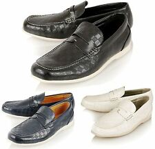 MENS DESIGNER INSPIRED CASUAL PU LEATHER LOAFERS MOCCASINS SLIP-ON SHOES