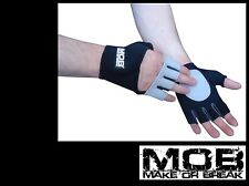 MOB Smooth black crossfit gym GLOVES- Weightlifting, pump class / cycling bike