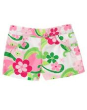 GYMBOREE FLORAL MERMAID WHITE & PINK FLORAL WOVEN SHORTS 12 18 2T 4T NWT