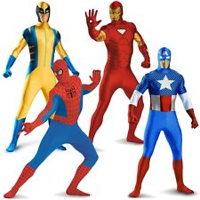 Superhero Bodysuit Costume Adult Zentai Suit Spandex Skin Halloween Fancy Dress