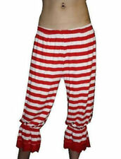 Red And White Striped Stripes Long Bloomers Halloween Theme Fancy Dress Costumes