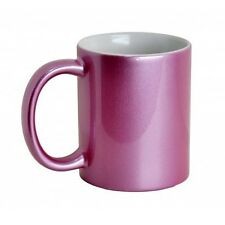 11oz SPARKLE PINK CERAMIC SUBLIMATION MUGS FOR SUBLIMATION HEAT PRESS PRINTING