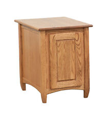 Arch End Table Solid Oak