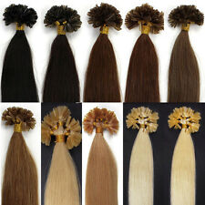 "18""20""22""100S Pre Bonded Glue Nail U Tip Remy Human Hair Extensions Any Colour"