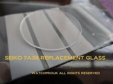 """QUALITY REPLACEMENT GLASS crystal  """"MADE IN GERMANY""""  FOR YOUR SEIKO 7A38"""