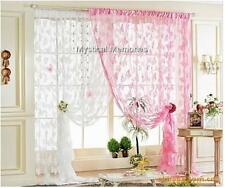 Gorgeous Pink Or White Butterfly Curtain or Door Curtain100cm x 200cm Brand New