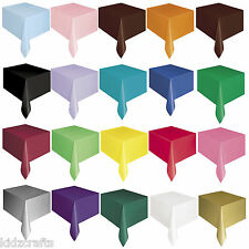 PLASTIC TABLE COVER 137cmx274cm Rectangular Waterproof Party 13 Colours