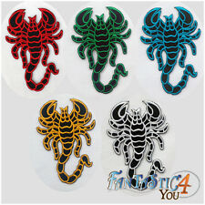 SCORPION WILDLIFE TATTOO PUNK SATAN ROCK SUN APPLIQUE EMBROIDERED IRON ON PATCH