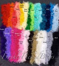 1 yard SOLID or TWO TONE Curly ostrich YOU CHOOSE COLOR