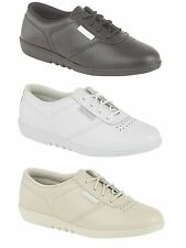 NEW LADIES CASUAL LEATHER COMFORT LACE SHOE FREESTEP STYLE SIZES 3 4 5 6 7 8
