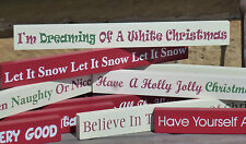 Shabby Chic Christmas Wooden Message Sign Plaque Table Top Fireplace Decoration