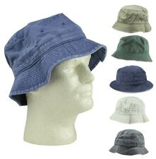 Bucket Hat Washed Cotton Fishing or Golfing L/XL  Extra Large Size (in 5 Colors)