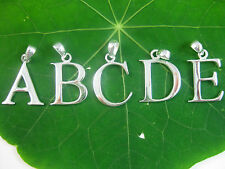 925 sterling silver INITIAL Letter pendant A/B/C/D/E/F/G/H/I/J/K/L/M/N/O/P/Q/R/S