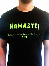 NAMASTE! - Medium Unisex Black 100% Cotton T-shirt
