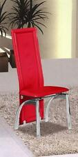 CHEAP DINING CHAIRS! Miller Full dining chairs RED Faux leather 2 or 4 or 6
