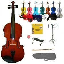 VIOLIN,Case,Bow,2Sets Strings,Shoulder Rest,Stand,Student Band School Orchestra
